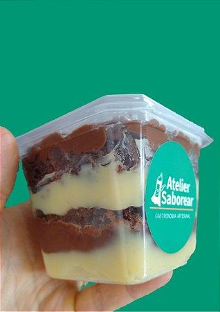 Brownie Camadinha de ninho e nutella