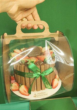 Torta Kit Kat - Mesclada de Morangos