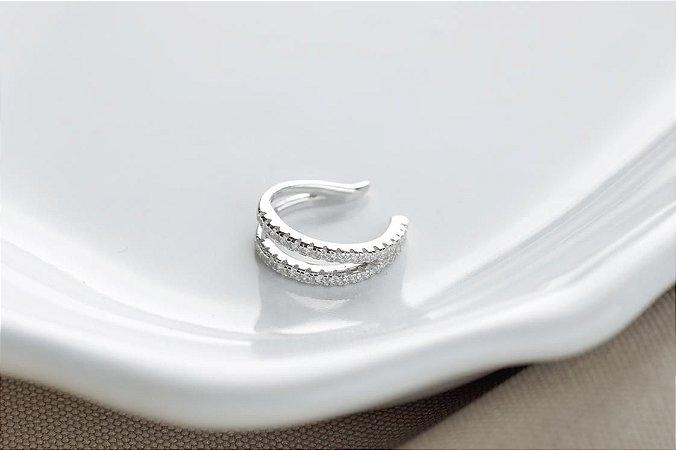 Piercing V prata 925