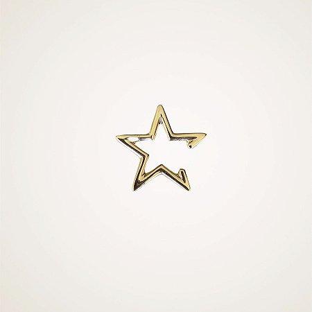 Piercing estrela prata 925 banho ouro