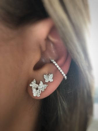 Piercing earhook prata 925