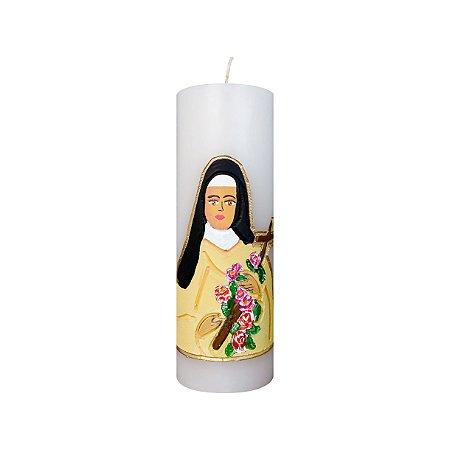 Vela esculpida Santa Teresinha