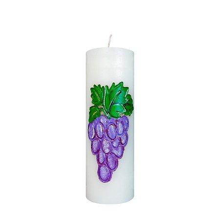 Vela esculpida Uvas