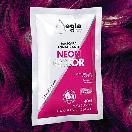Máscara Neon Color 40ml - Rosa Turmalina