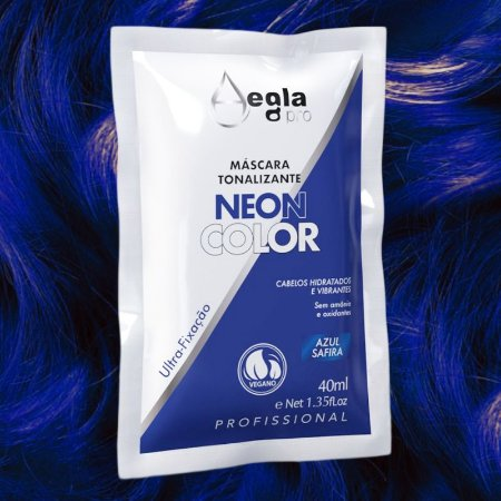Máscara Neon Color 40ml - Azul Safira