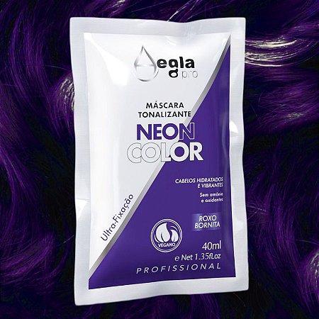 Máscara Neon Color 40ml - Roxo Bornita