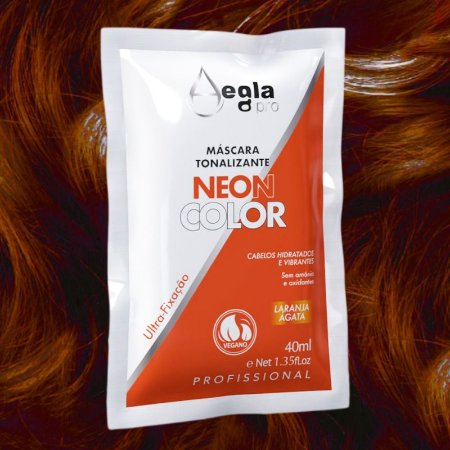 Máscara Neon Color 40ml - Laranja Ágata