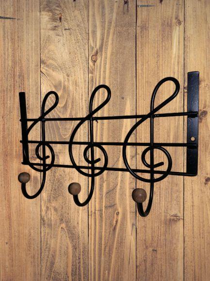 Cabide de Ferro notas Musical 3 Ganchos