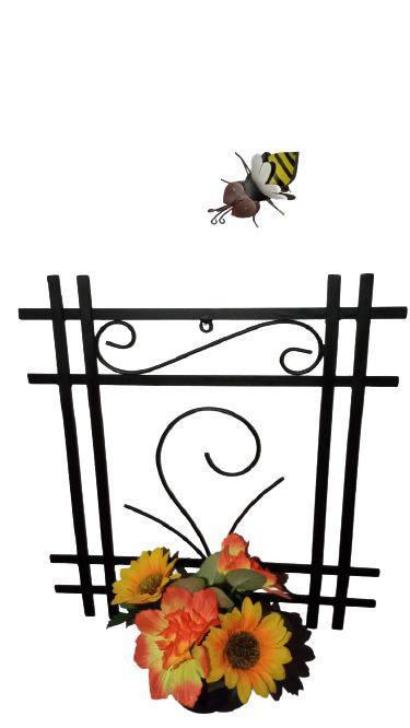 Porta Vaso Artesanal Em Ferro Decorativo
