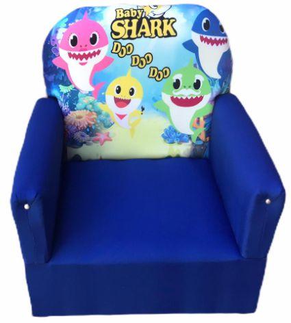 Mini Sofa Infantil Baby Shark Azul