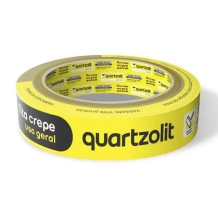 Fita Crepe Uso Geral 18mm x 50 Metros - Quartzolit