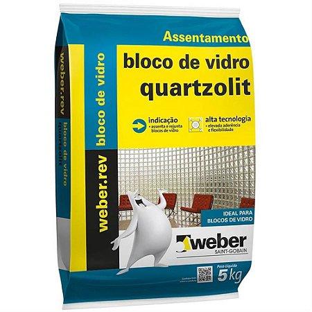 Argamassa Para Bloco de Vidro 5kg - Quartzolit