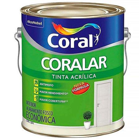 Tinta Acrílica Fosca Coralar Branco Neve 3,6L - Coral