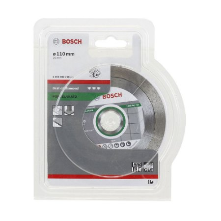 Disco Diamantado para Porcelanato 110mm x 20mm - Bosch