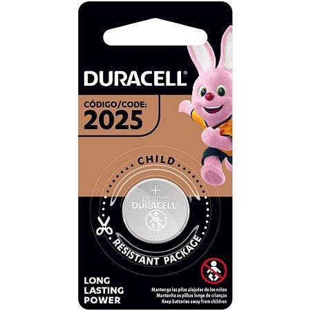 Bateria de Lítio Metálico CR 2025 3V - Duracell