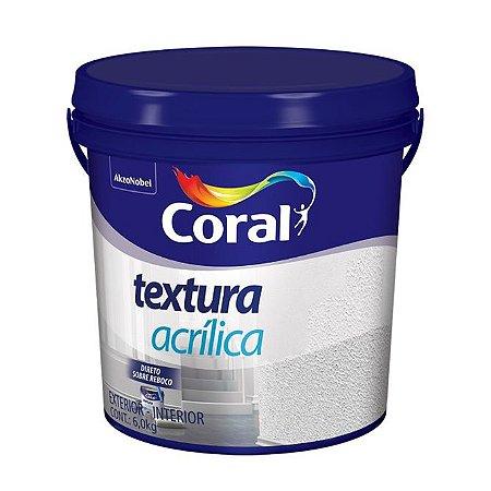 Textura Acrílica Branco 6kg - Coral