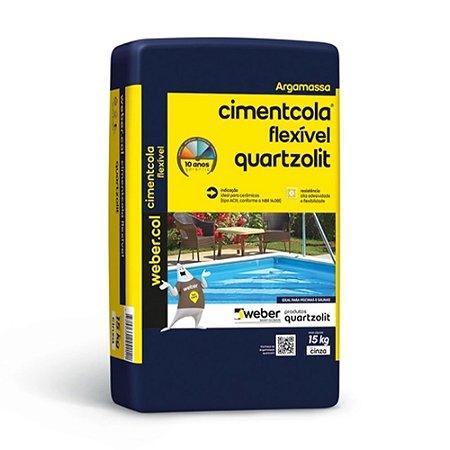 Argamassa Cimentcola AC3 Flexível 15kg - Quartzolit