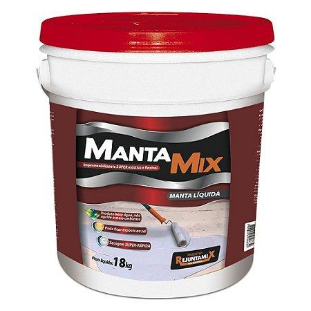 Manta Líquida Branca Impermeabilizante Acrílico Mantamix 18kg - Rejuntamix