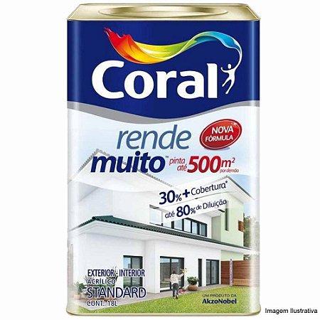 Tinta Acrílica Fosca Rende Muito Branco Neve 18L - Coral
