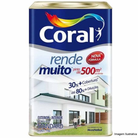 Tinta Acrílica Fosca Rende Muito Branco Gelo 18L - Coral