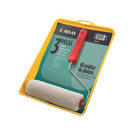 Kit Bandeja de Pintura Prático 3 Peças - Atlas