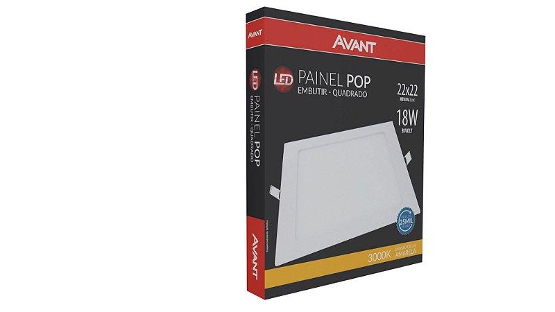 Painel de Embutir POP 18W 3000k - Avant
