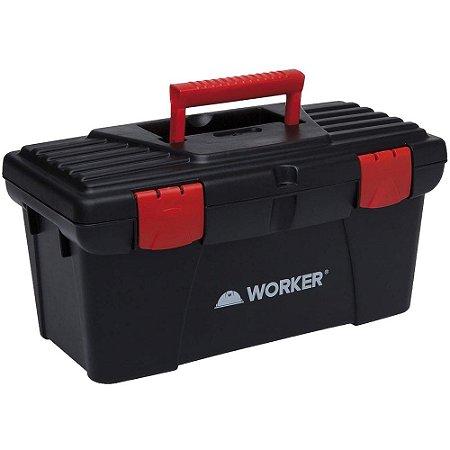 "Caixa para Ferramentas Plástica 12 1/2"" Bandeja - Worker"