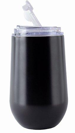 Copo Térmico Hermético Mokha Belli All Black 450ml