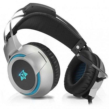 Fone Headset Gamer Para Celular Ps4 P2 Led Kira Adamantiun - AH-1000