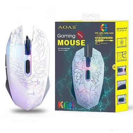 Mouse Óptico Gamer 6 Botões 2400dpi AOAS - LT-007 - K60