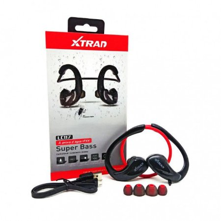 Fone de Ouvido Esportivo Super Bass Bluetooth a Prova D'água Ipx4 Xtrad - LC-117