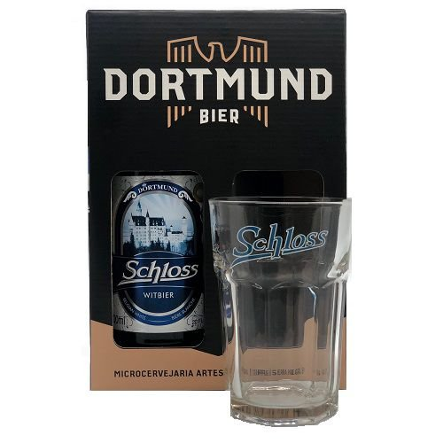Kit Cerveja Dortmund 600ml Schloss Com Copo