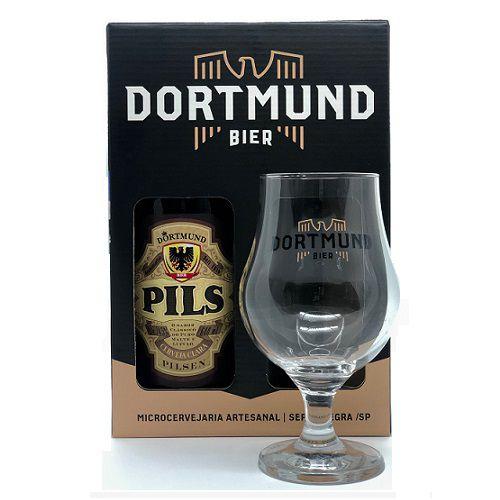 Kit Cerveja Dortmund 600ml Pilsen Com Taça De Cristal