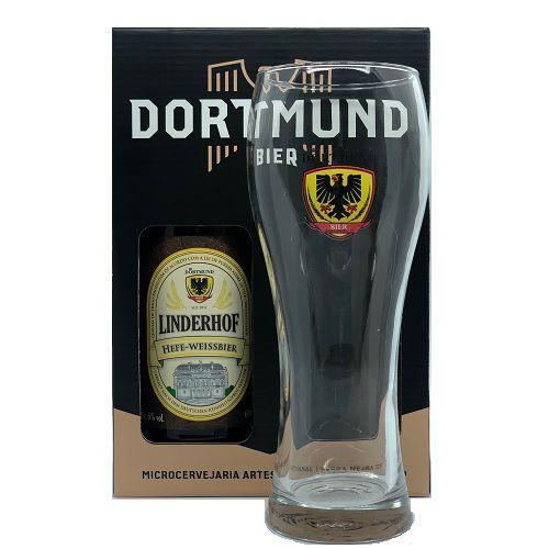 Kit Cerveja Dortmund 600ml Linderhof Com Copo