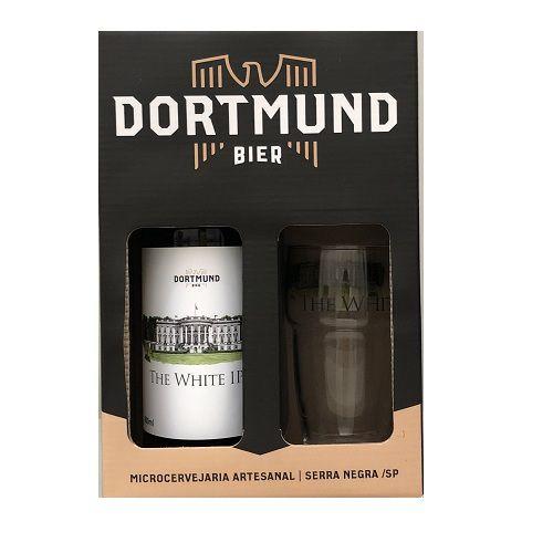 Kit Cerveja Dortmund 600ml Com Copo The White Ipa