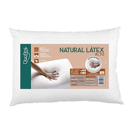 Kit de 2 Travesseiros alto natural Latex 50x70x16 Duoflex