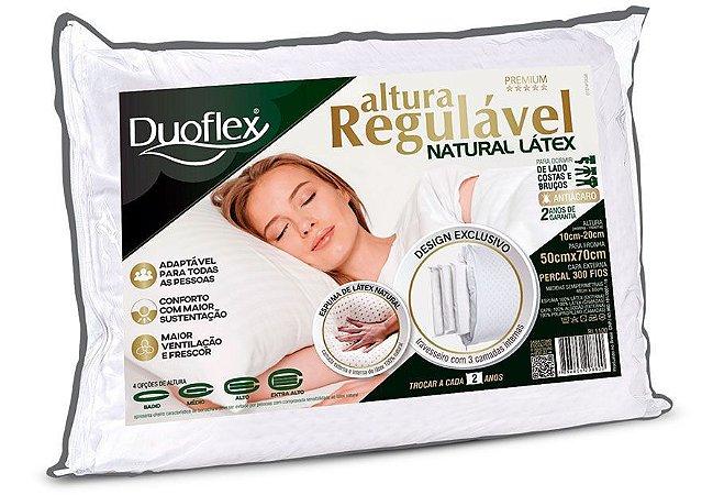 Travesseiro Altura Regulável Latex Luxo 50x70x20 Duoflex