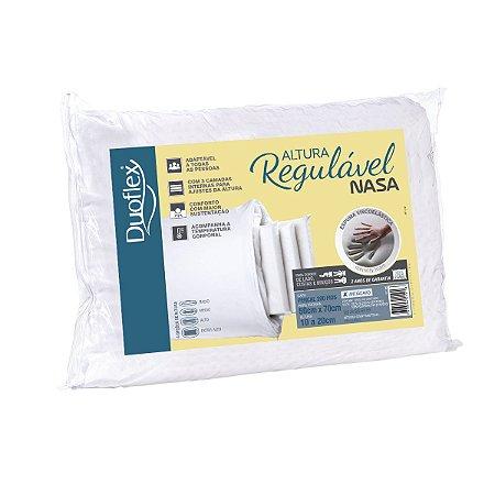 Travesseiro nasa altura regulave 50x70 de 10 a 20cm duoflex