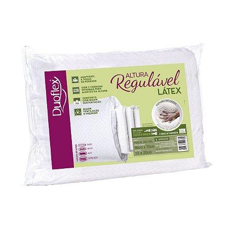 Travesseiro Látex Altura Regulável 50x70 10 a 20cm Duoflex
