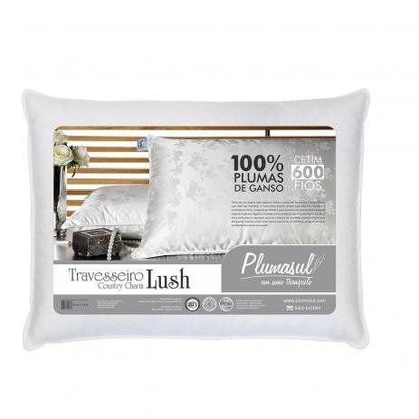 Travesseiro Pluma de Ganso Lush Perfumado 50x70cm Plumasul