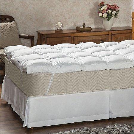 Pillow Top Casal 233 fios 140x190x7 Fibra siliconada Plumasu