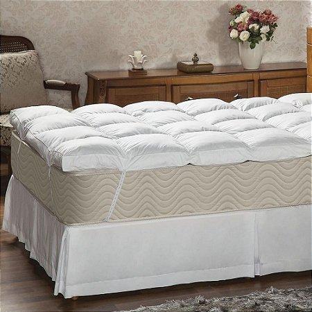 Pillow Top Queen 233 Fios 160x200x7 Fibra siliconada Plumasul