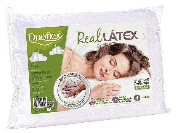 Kit 2 Travesseiro Látex Natural 50x70X14 cm Duoflex