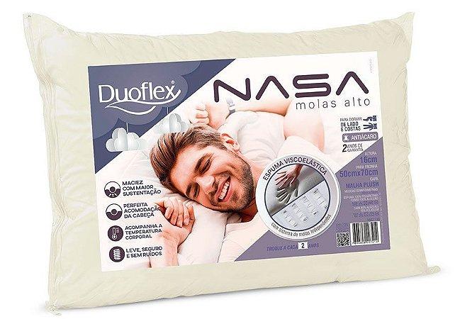 Travesseiro Molas Nasa Alto Luxo 50x70x16 Duoflex