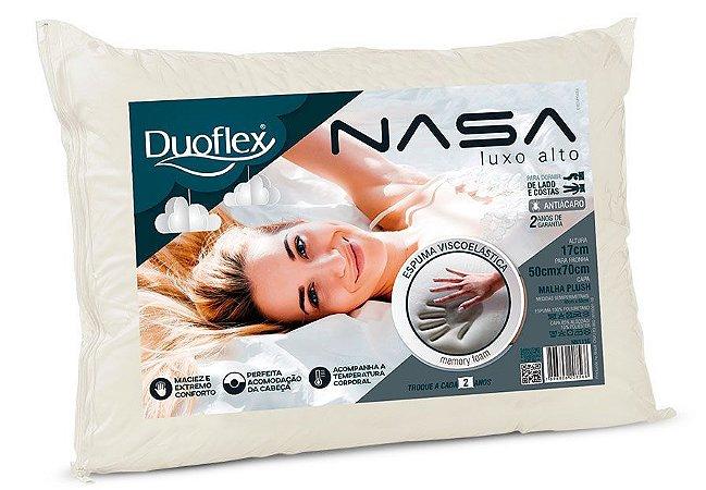 Travesseiro Nasa Alto Luxo Viscoelástico 50x70x17 Duoflex