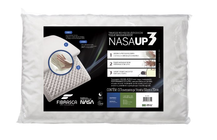 Travesseiro Nasa Up 3 P/Fronhas 50X70 - Fibrasca