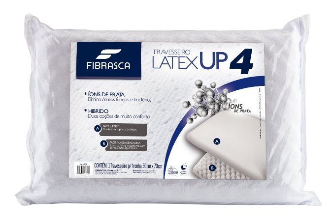 Travesseiro nasa Up4  Látex + Espuma Massageadora  Fibrasca