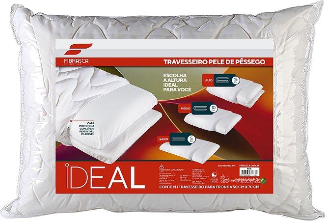 Travesseiro Regulável Pele De Pêssego Ideal - P/Fronhas50X70