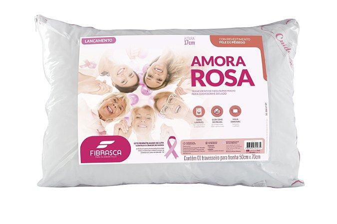 Travesseiro Amora Rosa 50x70  Fibrasca