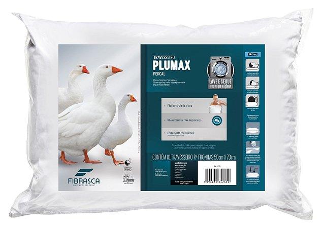 Travesseiro Toque De Pluma Percal Lavável 50X70 - Fibrasca